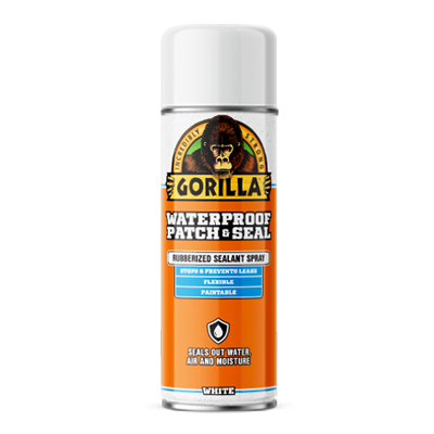 Gorilla Waterproof Patch and Seal Spray White