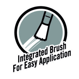 integrated brush for easy application