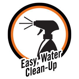 easy, water clean-up