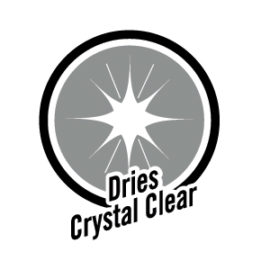 dries crystal clear
