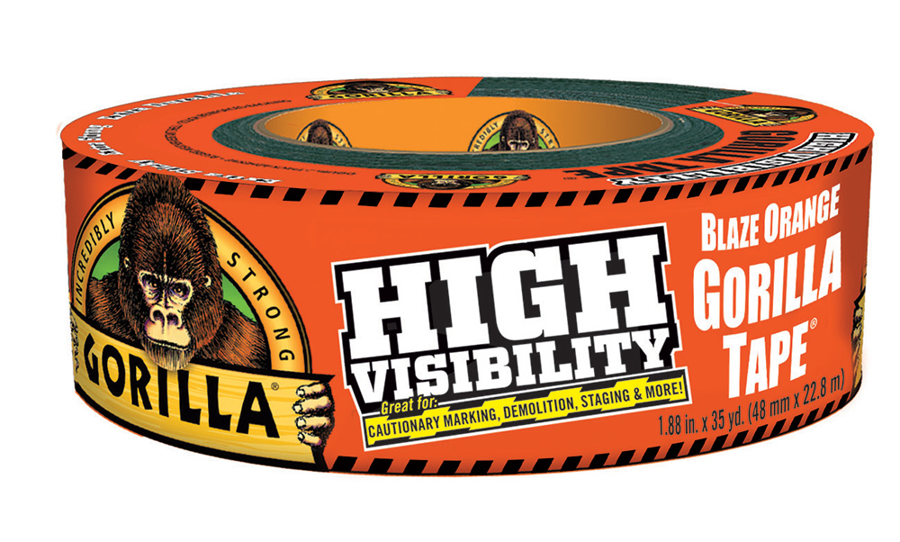 High Visibility Gorilla Tape: Blaze Orange