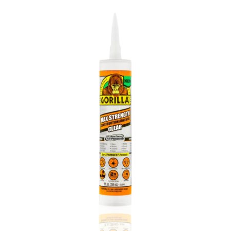 Gorilla Max Strength Construction Adhesive Clear