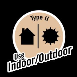 Type 2 use Indoor/outdoor