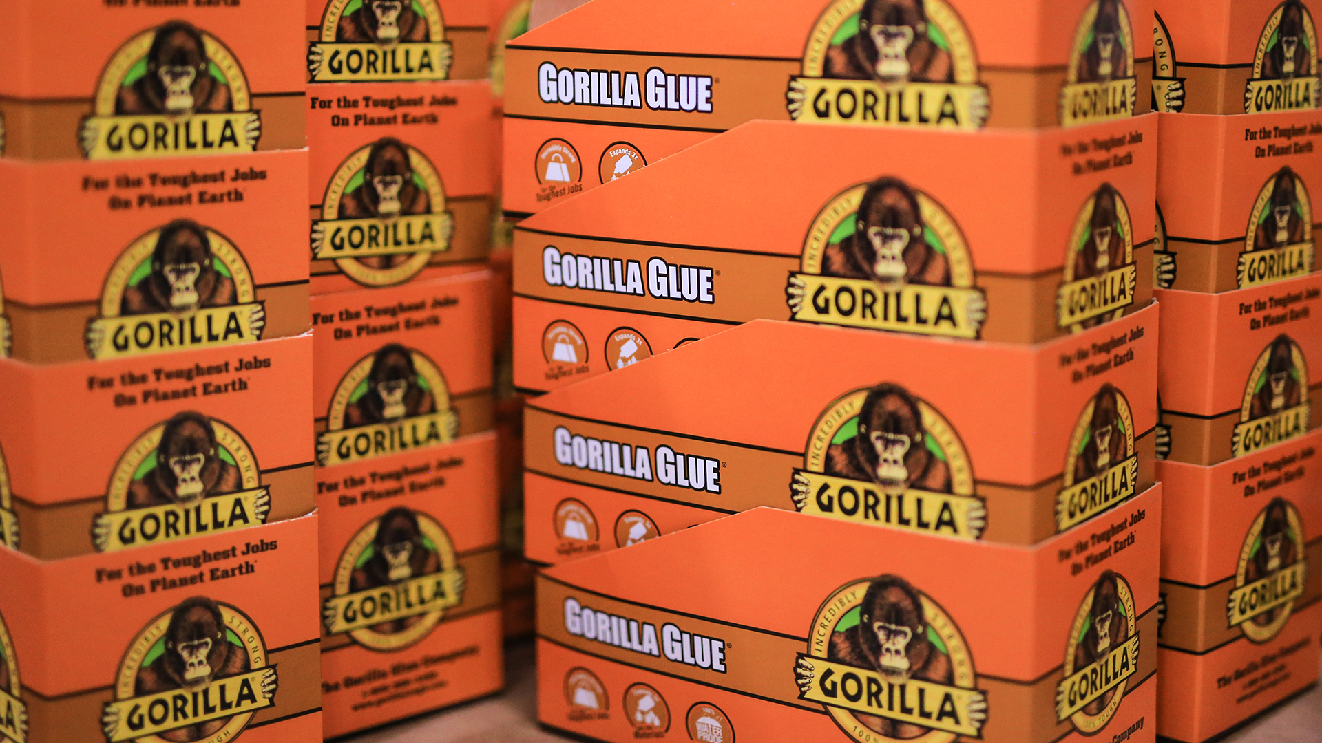Gorilla glue store production display image