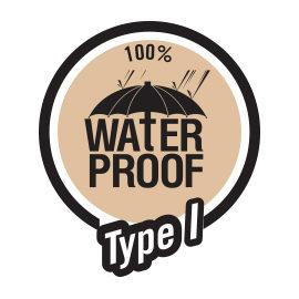 100% waterproof type 1