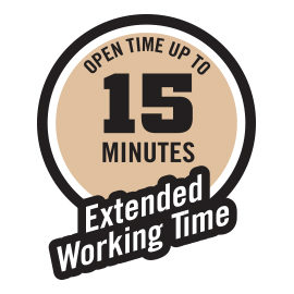 15 minutes extended working time