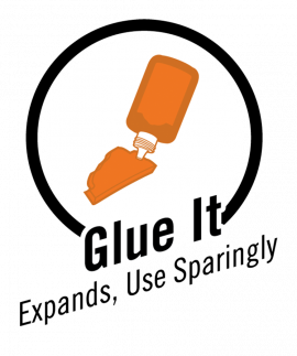 Glue it, expands, use sparingly
